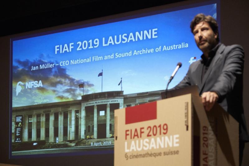 ז'ן מולר, מנכל ארכון הקולנוע והקול של אוסטרליה. התמונה באדיבות מיקו קוטי (Mikko Kuutti)